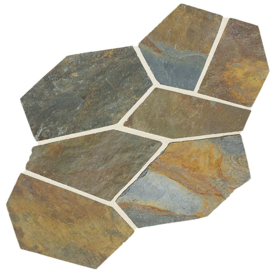 Slate Pattern Flagstone Natural Cleft by Floorcraft - Mongolian Sprin Plain