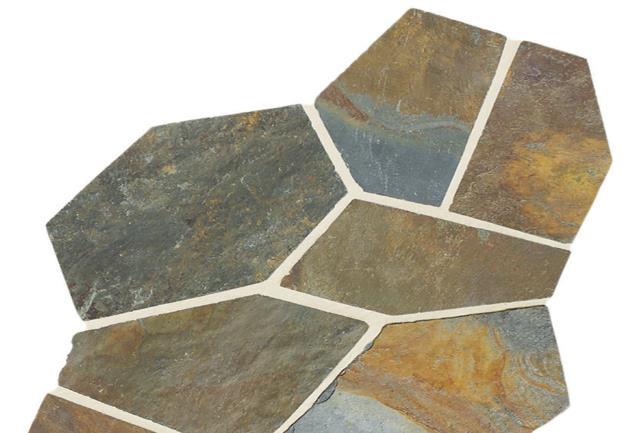 Slate Pattern Flagstone Natural Cleft by Floorcraft